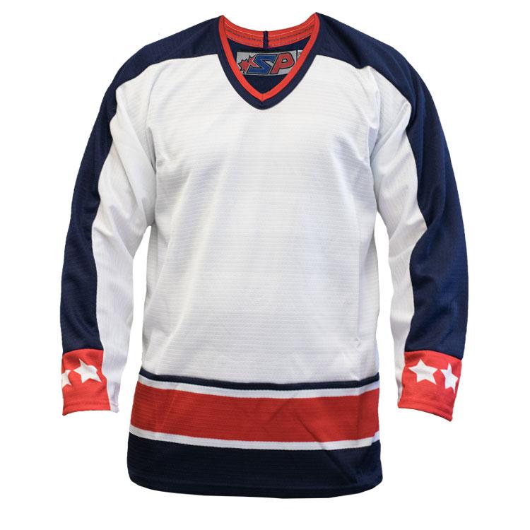 Columbus Away Custom Hockey Jersey
