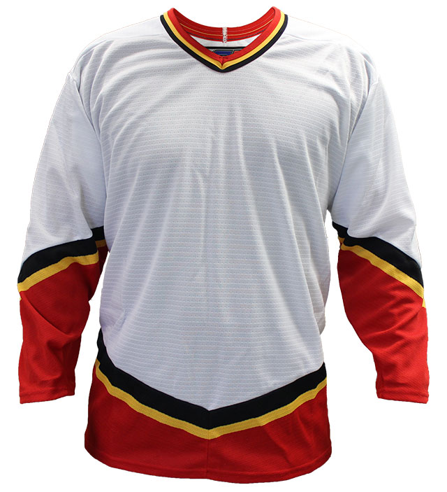 Calgary Away Custom Hockey Jersey