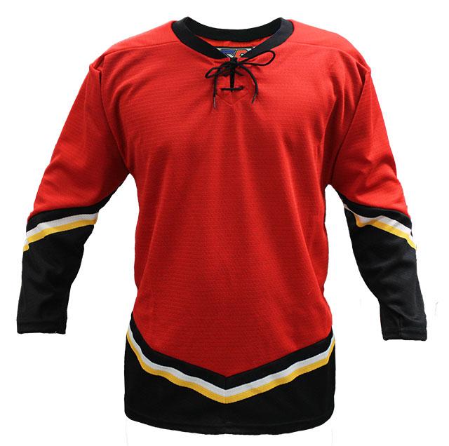 Calgary Home Custom Hockey Jersey