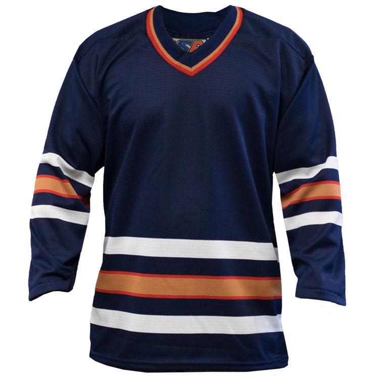 Edmonton Home Custom Hockey Jersey