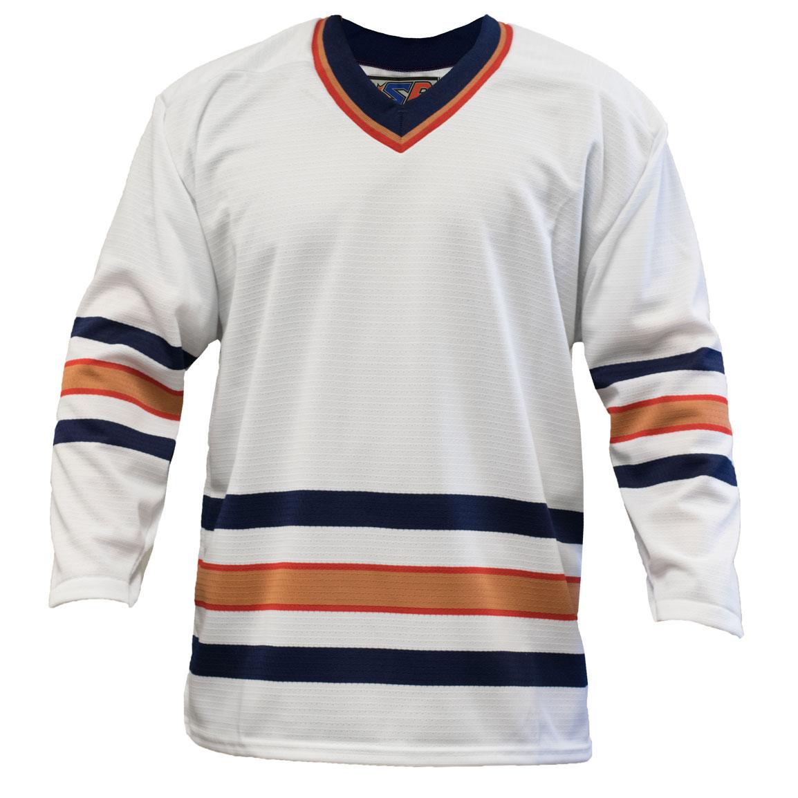 Edmonton Away Custom Hockey Jersey