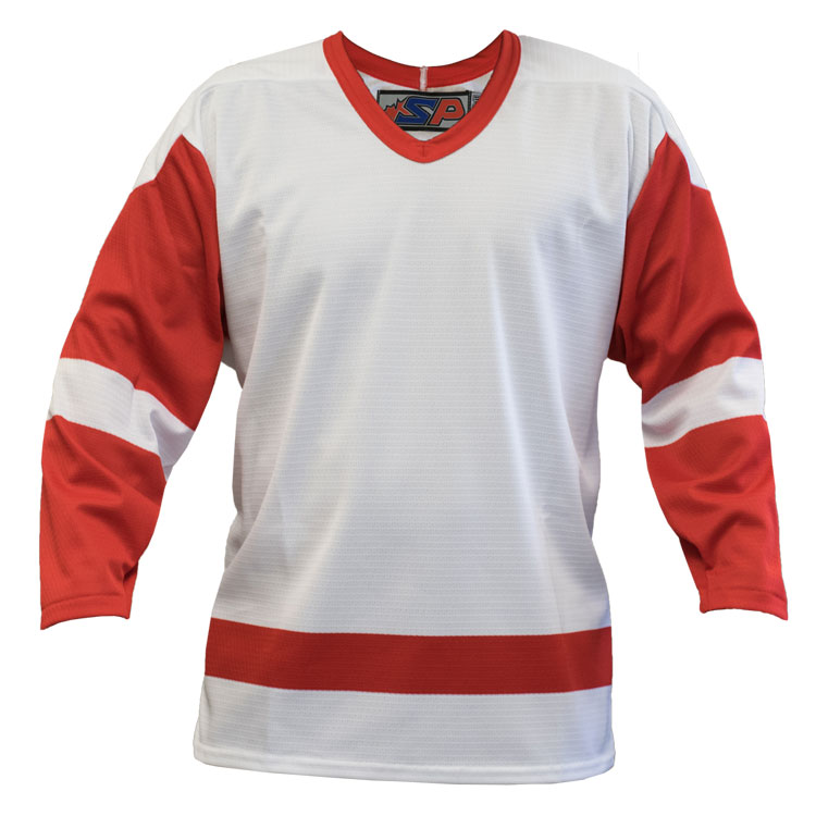 Detroit Away Custom Hockey Jersey